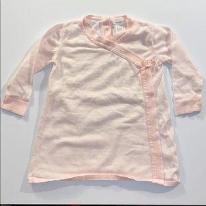 Angel Dear Kimona Wrap Style 100% Cotton Pink Top
